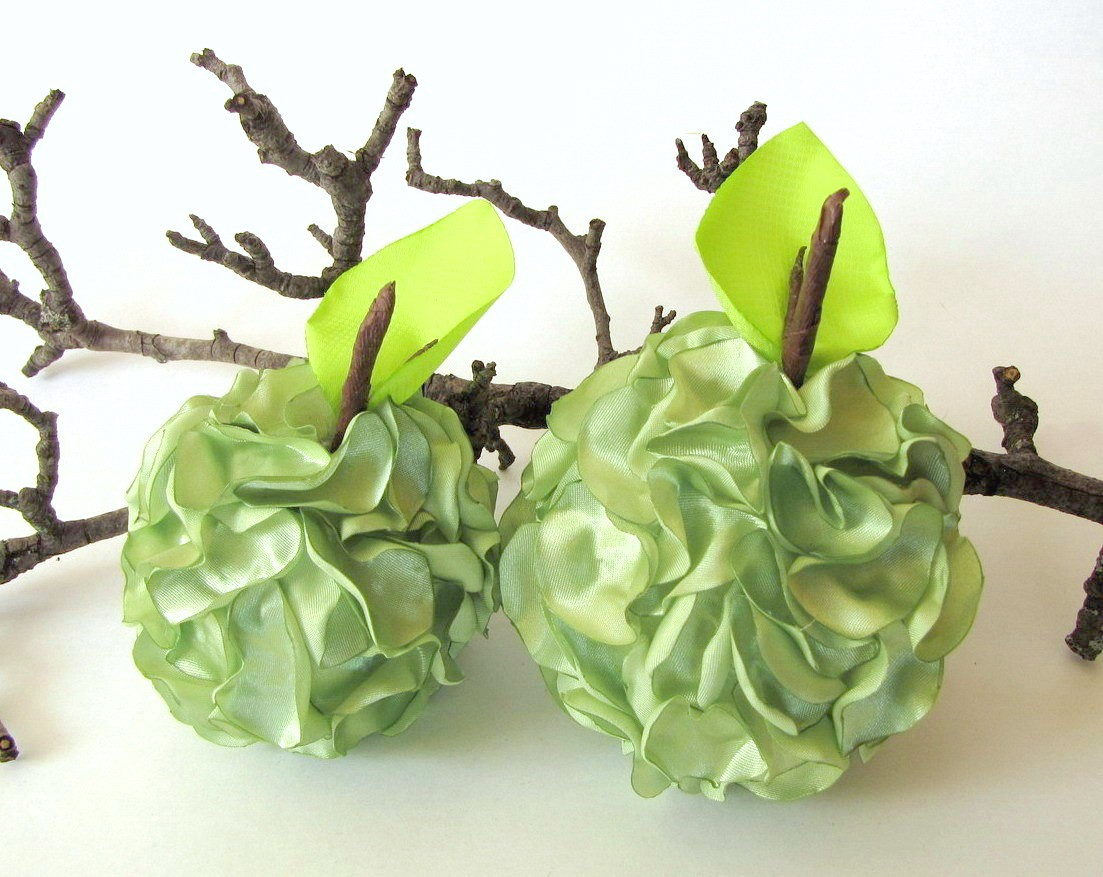 Handmade Home Decoration Accessories - GREEN APPLES on Luulla